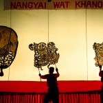 Nang Yai puppetry perfomed by Wat Khanon troupe, Thailand. Photographed by Constantine Korsovitis for Karma Images